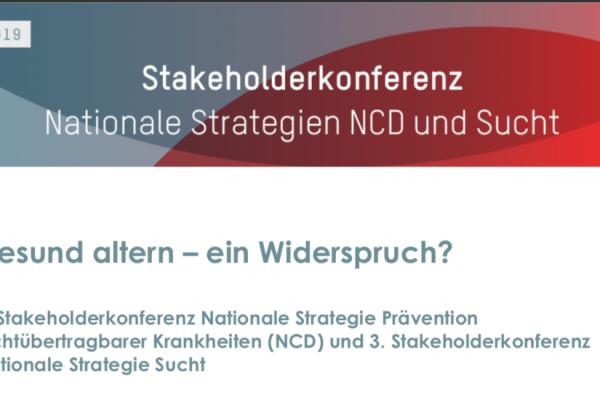 Invecchiare sani: Conferenza nazionale Strategie MNT e Dipendenze